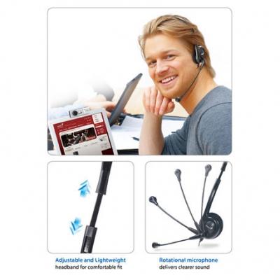 Auriculares C/microfono Genius Hs-200c  Pc (2 Plug)