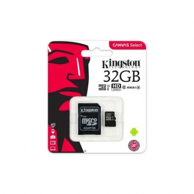 Memoria Flash Kingston Micro Sd 32gb Clase10 Uhs-i Sdcs/32 Canvas Select 80 Mb
