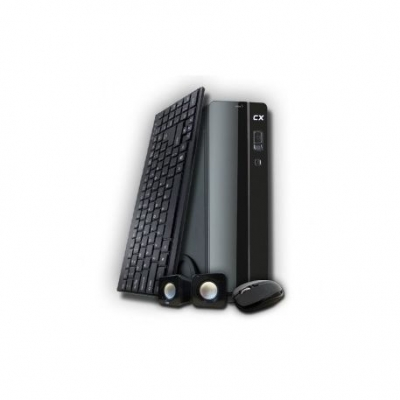 Gabinete Kit Perfomance Slim 5836 Teclado Parlantes Mouse