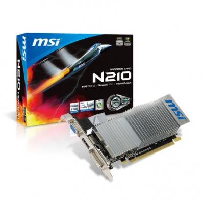 Placas De Video Msi Geforce Gt210 1 Gb Gddr3 Hdmi N210-md1gd3h/lp