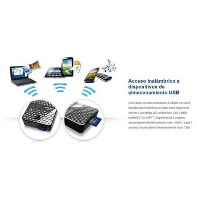 Bateria Portatil Adata Dashdrive Air Power Bank Ae400 Inalambrico Wireless