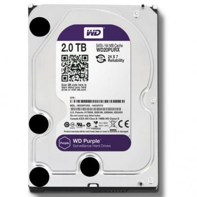 Disco Rigido Sata 3 Western Digital 2 Tb Purple Surveillance Wd20purx