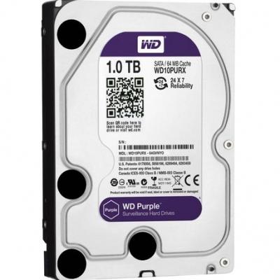 Disco Rigido Sata 3 Western Digital 1tb Purple Surveillance Wd10purx