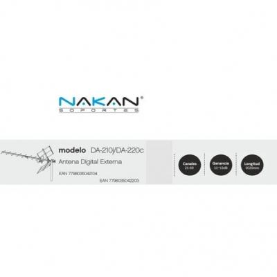 Antena Tv Digital Abierta Tda Nakan Da-220c Antena Tda Incluye 10m Cable