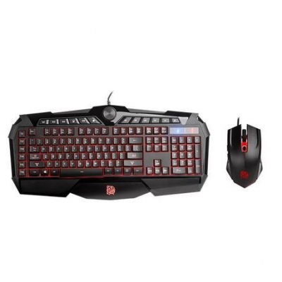 Teclado Y Mouse Gamer Ttesports Commander Challenger Prime Rgb Gamming Kb-cpc-mbbrsp-01