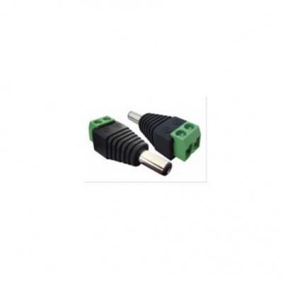 Dvr Ficha Plug Power Dc-screw Para Cctv Macho