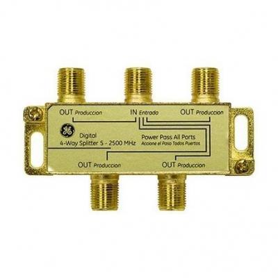 Tv Led General Electric Divisor 4 Canales Digital Coaxil Splitter 33527