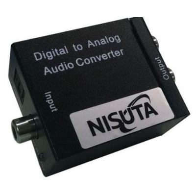 Parlantes 2.0 Nisuta Audio Digital A Analogico Nscoaudi