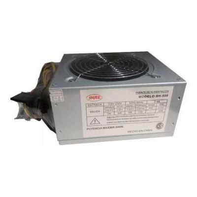 Fuentes Atx Shure 500w  Sh-500  Cooler 12 Cm