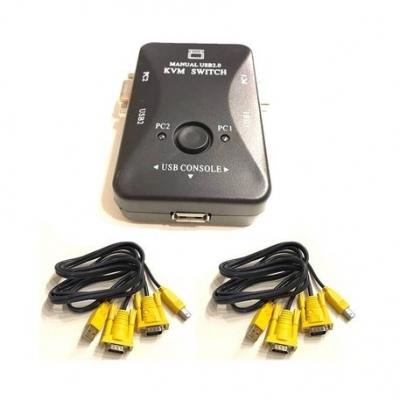Kvm Kvm Manual Puresonic Usb 2 Pc Vga Usb  Incluye Cables Gc-260kl