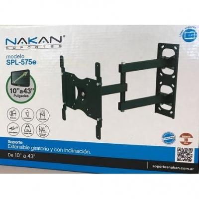 Soportes Tv Lcd Led Nakan Spl-575e Hasta 43