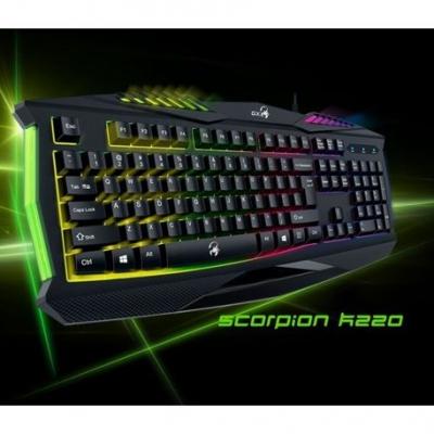 Teclado Gamer Genius Gx Gaming Scorpion K220 Iluminado Rgb Usb