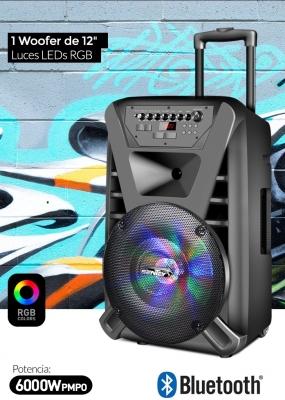 Parlantes  Bluetooth Sentey Ls-4930  Thunder X Rgb Portatil Karaoke Gran Potencia