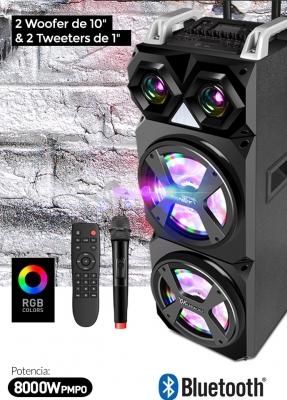 Parlantes  Bluetooth Sentey Ls-4938 Sky Sound 8000w Pmpo Karaoke Gram Potencia