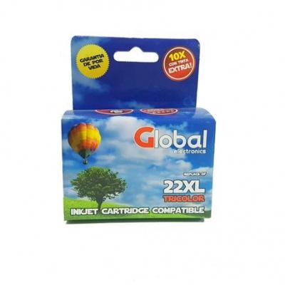 Cartucho Tinta Compatible Global 22 Xl Color Para Hp