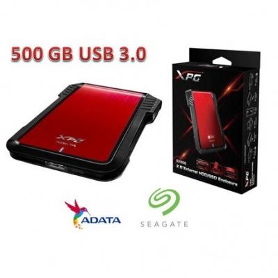 Discos Rigidos Externos Adata Ex500u3 Sata Aluminio 2.5 Usb 3.0 + Seagate 500 Gb