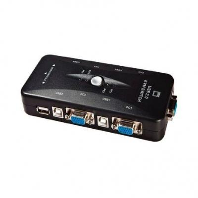 Kvm Kvm Manual  Puresonic Usb Para 4 Pc Vga + Usb  Incluye Cables Gc-460kl