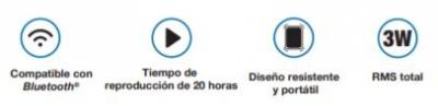 Parlantes  Bluetooth Xtech Xts-610 Floyd Compacto Portatil  Bluetooth Con Microfono