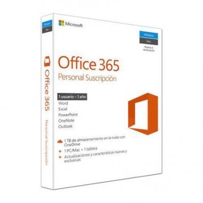 Software Office 365 Personal 32/64 Spa Key Digital 1 AÑo