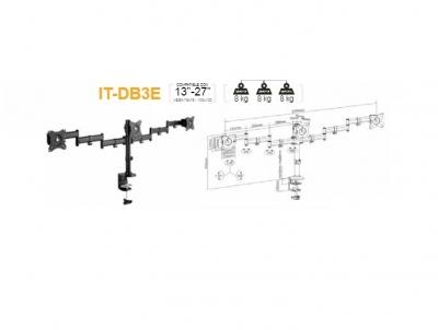 Soportes Intelaid Triple Para Monitor Led Tv Lcd It-db3e