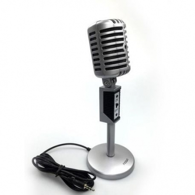 Microfonos Noganet Retro Mic-2030 Para Zoom Skype Google Meet Pc Notebook