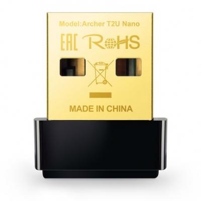 Placa De Red Tplink T2u Nano Wireless Usb