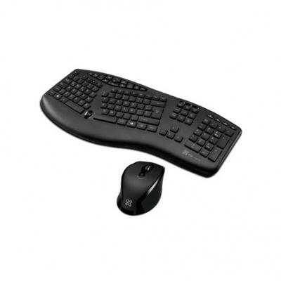 Teclado + Mouse Klipextreme Ergonometrico Business Majestik Kbk-500 Wireless