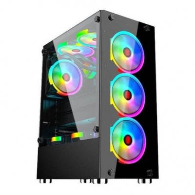 Gabinete Gamer Shure Atx-134  Incluye 4 Cooler Rgb Con Fuente  750w