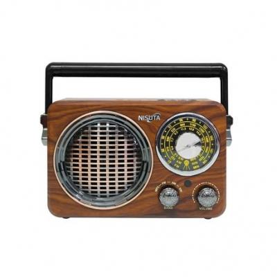Radios Con Mp3 Usb Sd Nisuta Am/fm Vintage Con Mp3  Bt Auxiliar Nsrv17