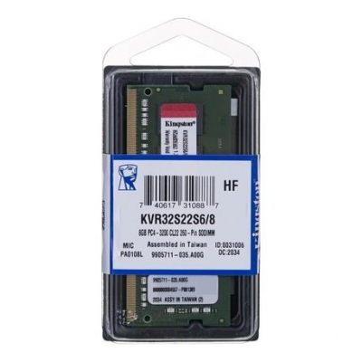 Sodimm Kingston  8 Gb Kvr32s22s6/8 Ddr4 3200 Mhz