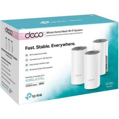 Deco Mesh Tp-link Deco E4 3 Pack Wi-fi Mesh Para Toda La Casa Ac1200