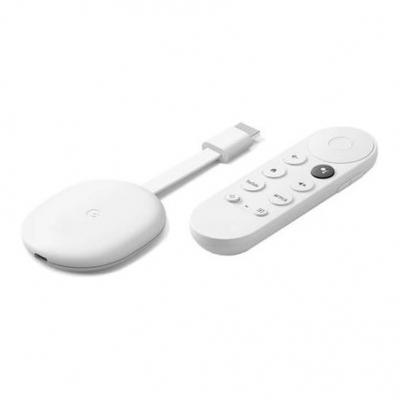 Streaming Chromecast 4  Con Control 4k Mando De Control Por Voz Nuevo Modelo